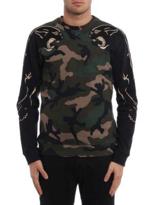 Valentino: Sweatshirts & Sweaters online - Camu panther cotton sweatshirt