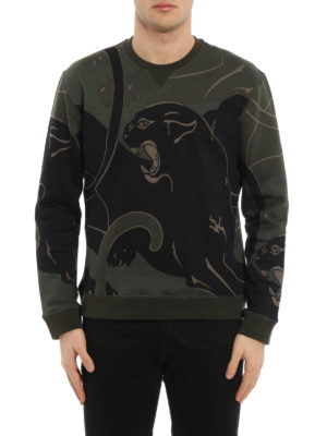 Valentino: Sweatshirts & Sweaters online - Camu Panther printed sweatshirt