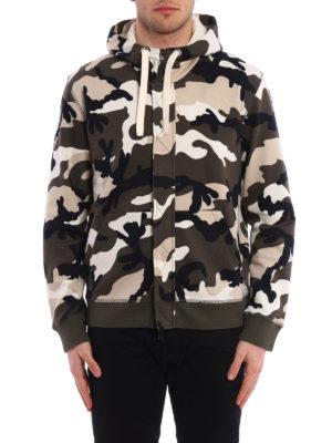 Valentino: Sweatshirts & Sweaters online - Camu Unfinished print hoodie