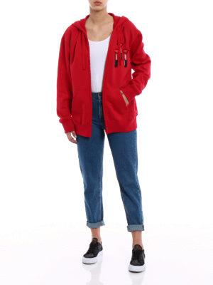 Valentino: Sweatshirts & Sweaters online - Embroidered cotton hoodie