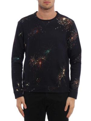 Valentino: Sweatshirts & Sweaters online - Fireworks print cotton sweatshirt