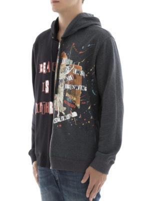 Valentino: Sweatshirts & Sweaters online - Jamie Reid print two-face hoodie