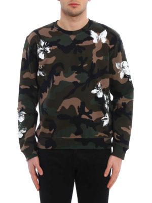 Valentino: Sweatshirts & Sweaters online - Mariposa cotton sweatshirt