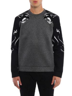 Valentino: Sweatshirts & Sweaters online - Panther scuba effect sweatshirt