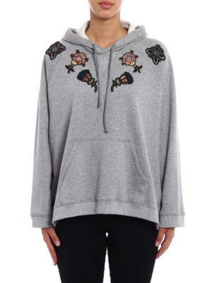 Valentino: Sweatshirts & Sweaters online - Precious embroideries flared hoodie