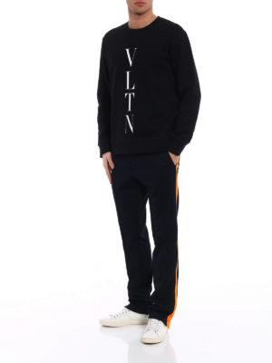 Valentino: Sweatshirts & Sweaters online - VLTN jersey black sweatshirt