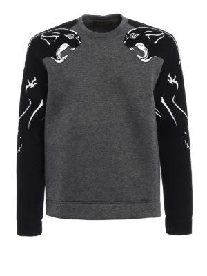 Valentino: Sweatshirts & Sweaters - Panther scuba effect sweatshirt