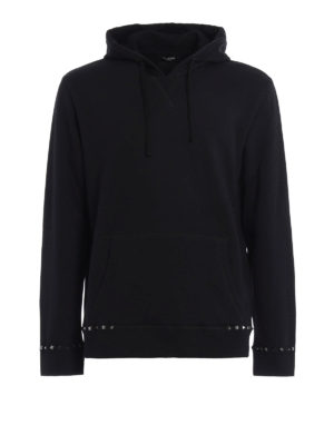 Valentino: Sweatshirts & Sweaters - Rockstud cotton hoodie