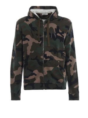 VALENTINO: Felpe e maglie - Felpa VLTN camouflage con zip e cappuccio