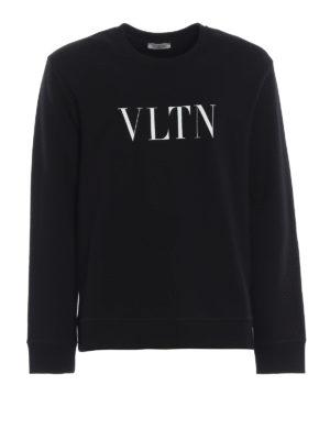 VALENTINO: Felpe e maglie - Felpa nera VLTN in cotone