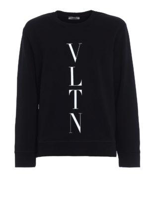 Valentino: Sweatshirts & Sweaters - VLTN jersey black sweatshirt