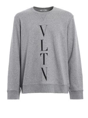 Valentino: Sweatshirts & Sweaters - VLTN jersey grey sweatshirt