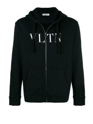VALENTINO: Felpe e maglie - Felpa con stampa VLTN e cappuccio