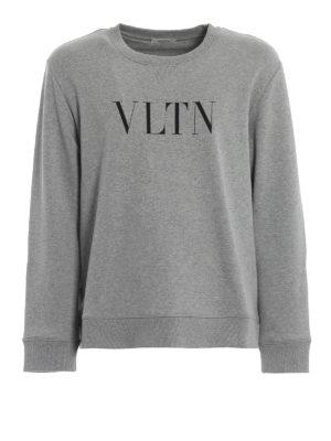 VALENTINO: Felpe e maglie - Felpa in jersey melange con stampa VLTN