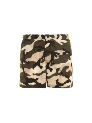 Valentino: Swim shorts & swimming trunks - Camouflage print swim shorts