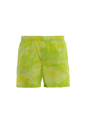 656dd7081fdf VALENTINO: Costumi piscina e boxer - Boxer da mare giallo fluo camouflage