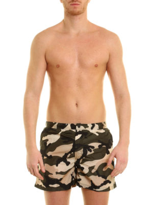 Valentino: Swim shorts & swimming trunks online - Camouflage print swim shorts