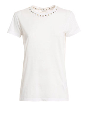 Valentino: t-shirts - 09. Rockstud Untitled cotton Tee