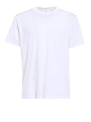 Valentino: t-shirts - 09. Rockstud Untitled white T-shirt
