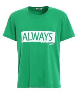 VALENTINO: t-shirt - T-shirt in jersey con stampa Always