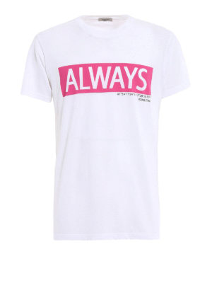 VALENTINO: t-shirt - T-shirt bianca con stampa Always