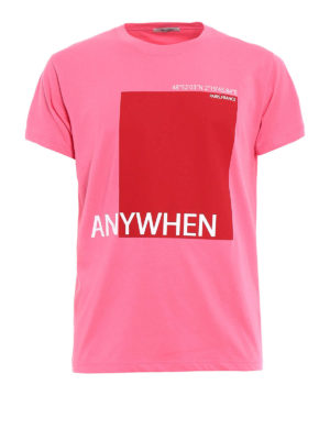 VALENTINO: t-shirt - T-shirt rosa con stampa Anywhen