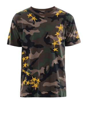 Valentino: t-shirts - Camouflage cotton T-shirt