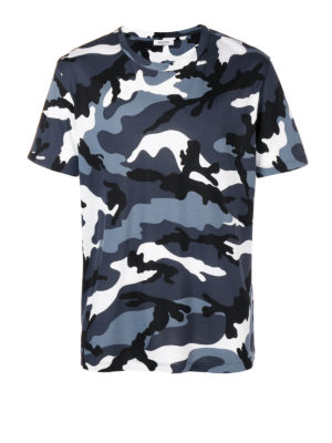 VALENTINO: t-shirt - T-shirt in cotone camouflage