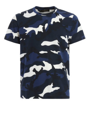 Valentino: t-shirts - Camu print cotton T-shirt