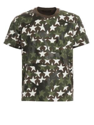 Valentino: t-shirts - Camustars print T-shirt