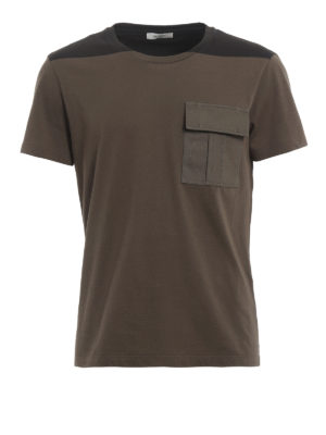 Valentino: t-shirts - Canvas patch pocket Tee