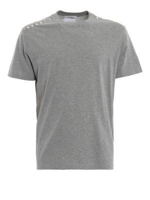VALENTINO: t-shirt - T-shirt Rockstud Untitled grigio mélange