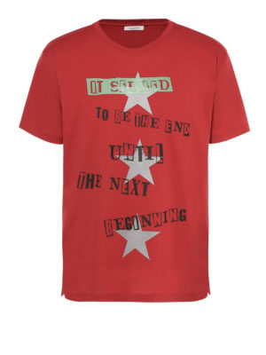 Valentino: t-shirts - Jamie Reid and star printed Tee