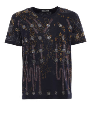 Valentino: t-shirts - Lunar Punk print cotton T-shirt