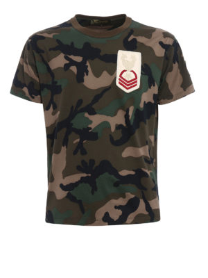 Valentino: t-shirts - Military patches Camouflage T-shirt
