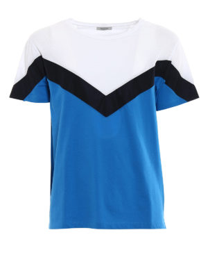 Valentino: t-shirts - Nylon insert cotton T-shirt