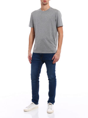 Valentino: t-shirts online - 09. Rockstud Untitled grey T-shirt