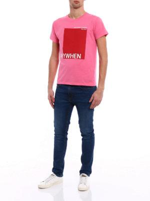Valentino: t-shirts online - Anywhen print pink T-shirt