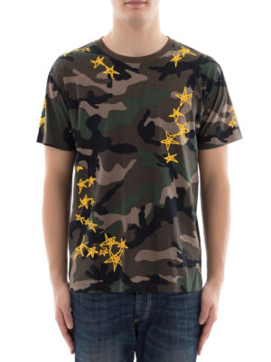 Valentino: t-shirts online - Camouflage cotton T-shirt