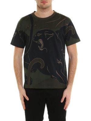Valentino: t-shirts online - Camu Panther print T-shirt