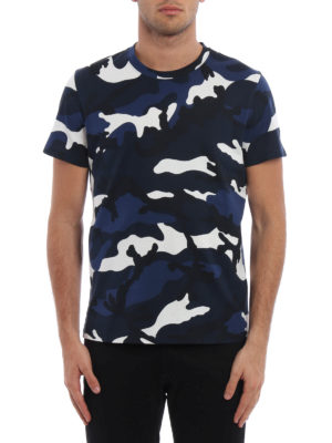 Valentino: t-shirts online - Camu print cotton T-shirt