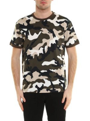 Valentino: t-shirts online - Camu Unfinished print T-shirt