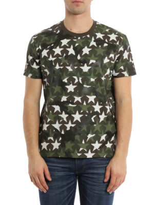 Valentino: t-shirts online - Camustars print T-shirt