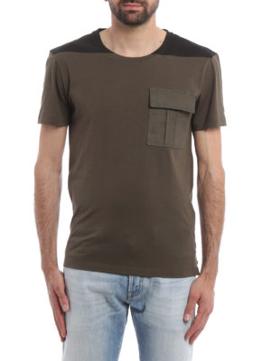 Valentino: t-shirts online - Canvas patch pocket Tee