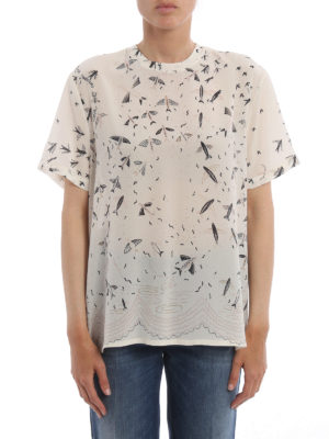 Valentino: t-shirts online - Exclusive print silk T-shirt