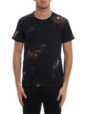 Valentino: t-shirts online - Fireworks print cotton T-shirt