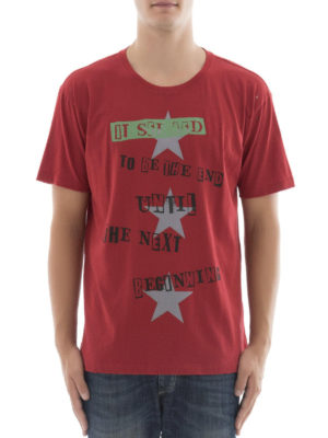 Valentino: t-shirts online - Jamie Reid and star printed Tee