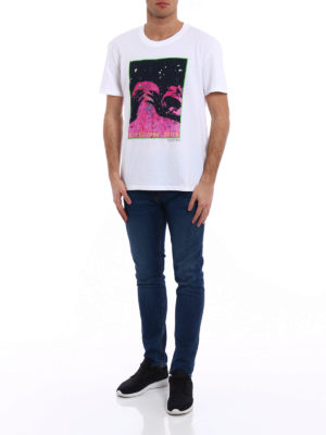 Valentino: t-shirts online - Jump from the moon jersey T-shirt