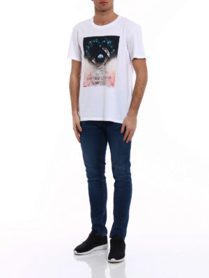 Valentino: t-shirts online - Jump from the moon print T-shirt