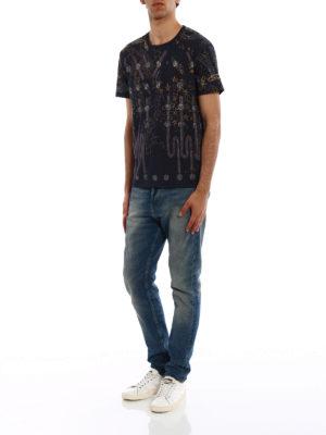Valentino: t-shirts online - Lunar Punk print cotton T-shirt